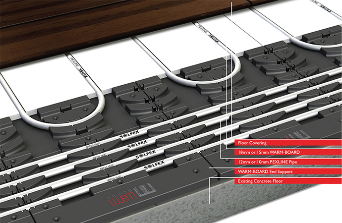 Solfex turns the heat up on underfloor